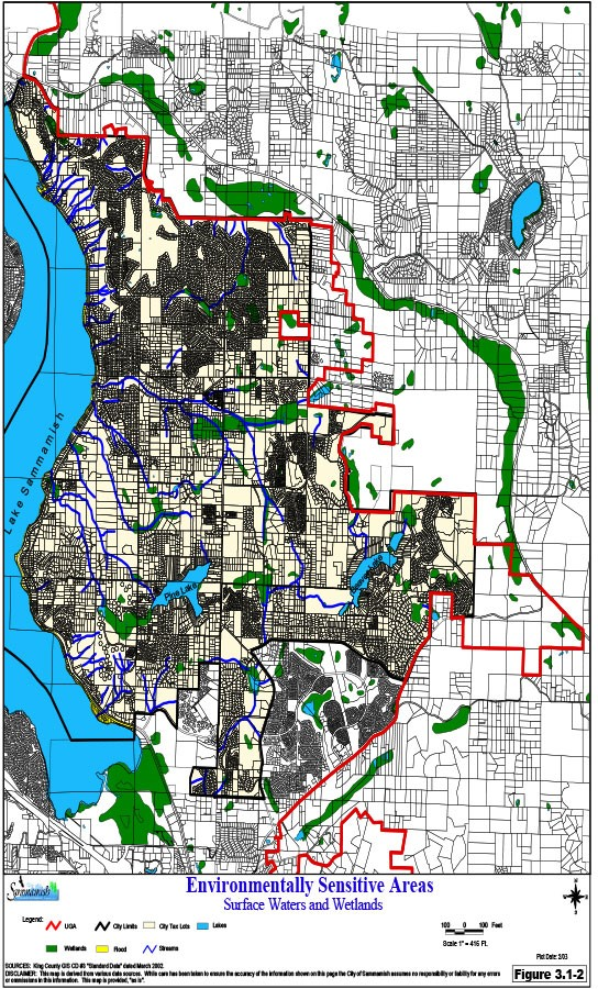 Environmentally Sensitive Areas, Surface Waters and Wetlands - Feb 2003