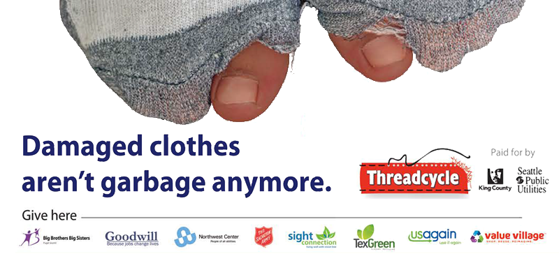 Donated clothes aren't garbage anymore.