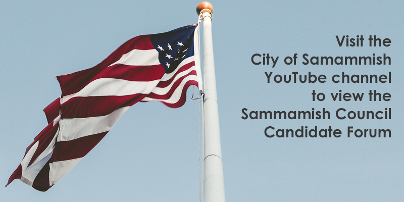 Sammamish City Council Candidate Forum posted on City of Sammamish YouTube channel