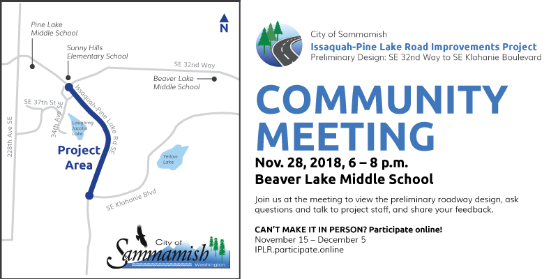 Issaquah-Pine Lake Road Improvement Project Community Meeting