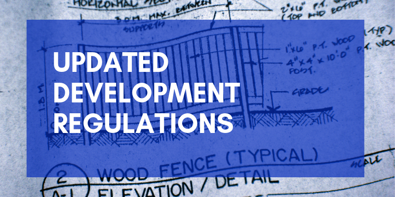 Updated Development Regulations