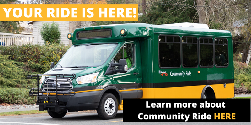 Your ride is here! Learn about Community Ride